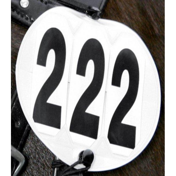 Stævnenummer med elastik. 2 styks