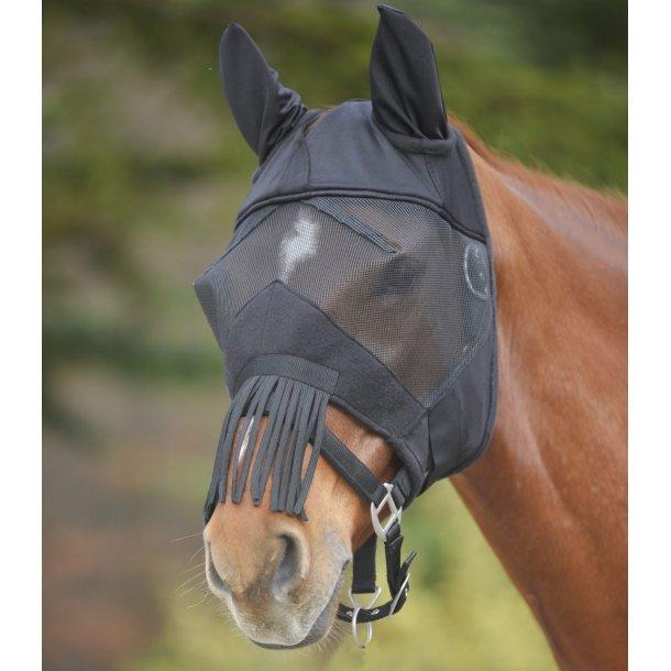 Premium fluemaske med ører og frynser