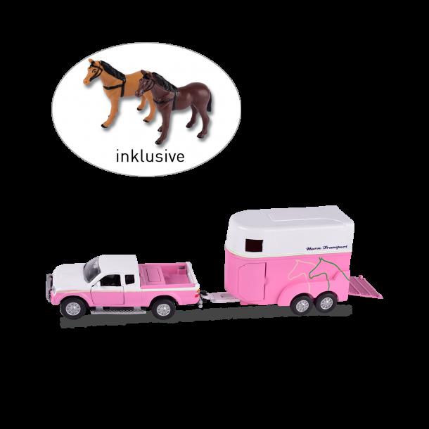 Bil med hestetrailer, Mitsubishi