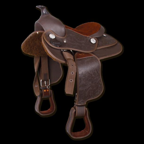 Western Sadel til Pony
