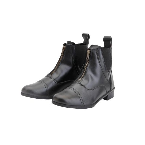 Korte ridestøvler m. lynlås