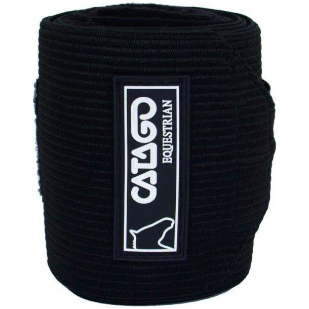 Catago Fleece/elastik Bandager, sort
