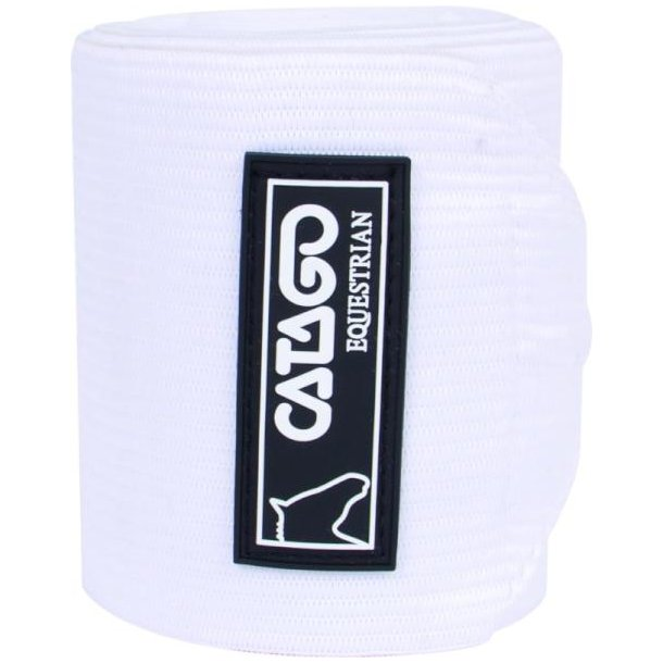 Catago Fleece/elastik Bandager, hvid
